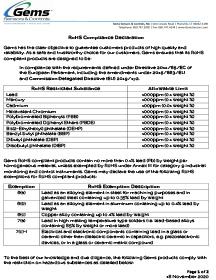 3100 Series RoHS Certificate