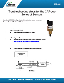 CAP 300 Troubleshooting