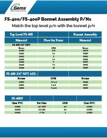 FS 400/400P Bonnet Assemblies
