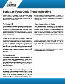 Warrick Series 26 and DF Fault Code Troubleshooting