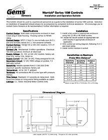 Installation Instructions | Gems Sensors | Gem Sensors Wiring Diagrams |  | Gems Sensors