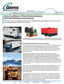 Improving Mission Critical Cooling Systems with More Reliable Level Sensing