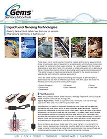Liquid Level Sensing Technologies