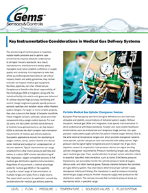 Key Instrumentation Considerations in Medical Gas Delivery Systems