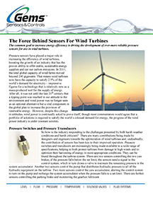 The Force Behind Sensors For Wind Turbines