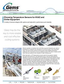 Choosing Temperature Sensors for HVAC and Chiller Equipment