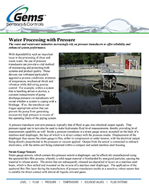 Water Processing with Pressure