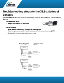 XLS 1 Series Troubleshooting